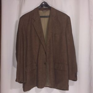 Claiborne brown linen sport coat